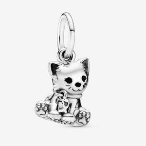 Authentic PANDORA Kitty-Cat Dangle Charm